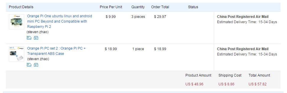 Orange Pi ONE、送料込み$13 10で販売開始! – OSAKANA TAROのメモ帳